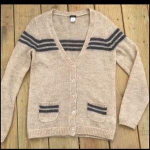 J crew sweater size small collegiate cardigan